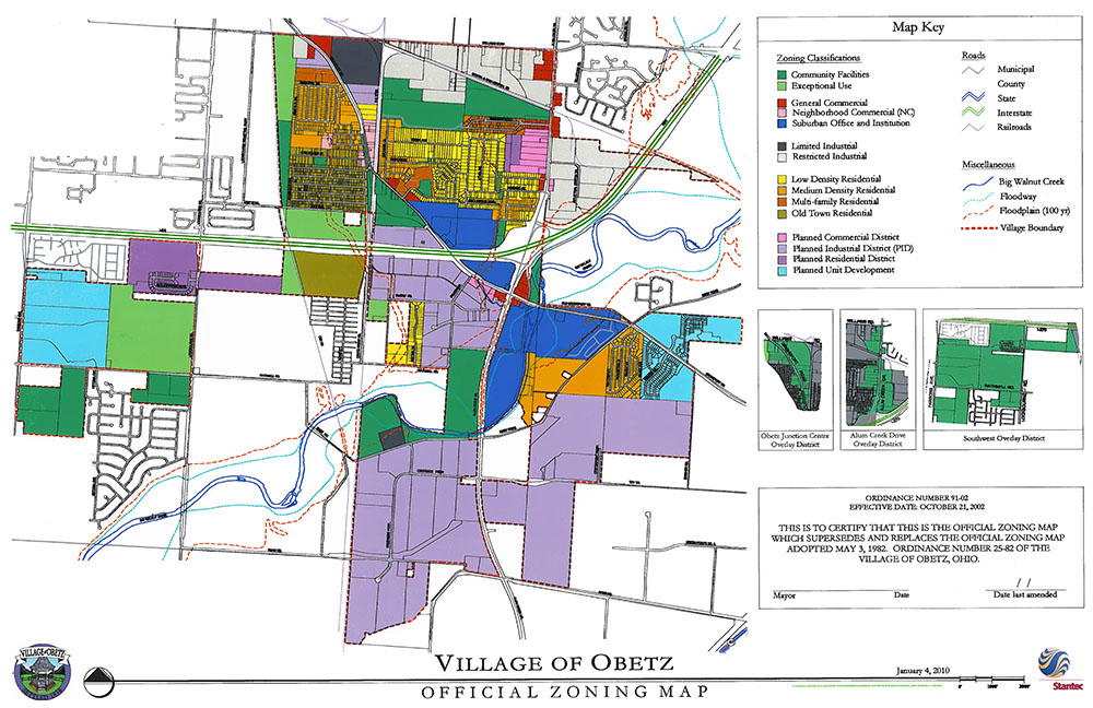 Village of Obetz Zoning Map