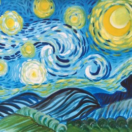 """""""Starry Night Inspired"""" Painting Class at the OCC"""