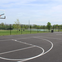 New Outdoor Basketball Hoops and Blacktop at the OAC